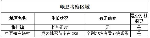 岷县考察区域