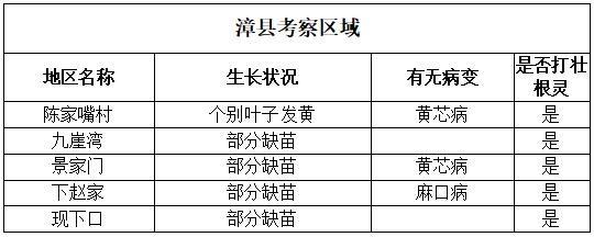 漳县考察区域