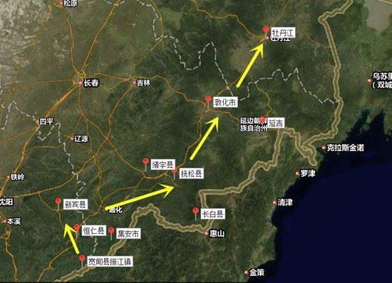 从黑龙江林口县到辽宁省宽甸县红石砬子镇怎么走